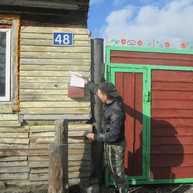 """Волонтеры """"Доброе сердце""""  оказывают помощь жителям села Белый яр"""